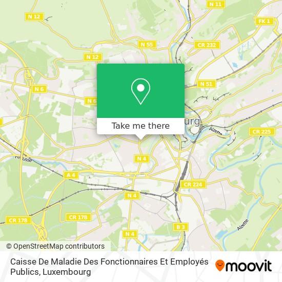 Caisse De Maladie Des Fonctionnaires Et Employés Publics map