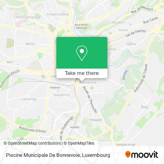 Piscine Municipale De Bonnevoie map
