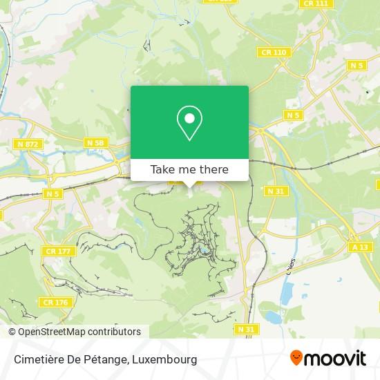 Cimetière De Pétange map