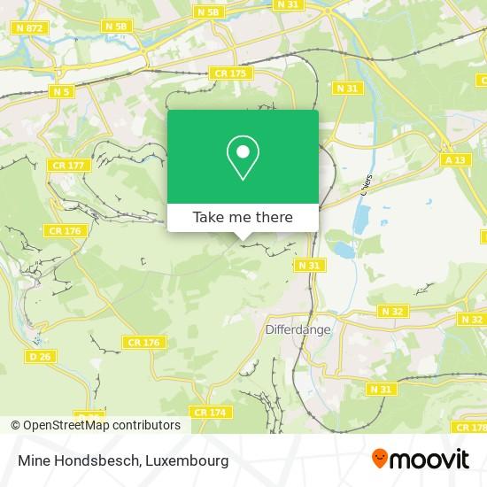 Mine Hondsbesch map