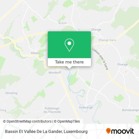 Bassin Et Vallée De La Gander map