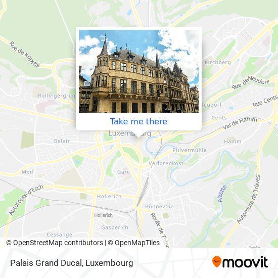 Palais Grand Ducal map