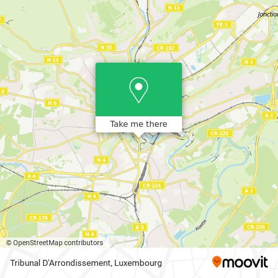 Tribunal D'Arrondissement map
