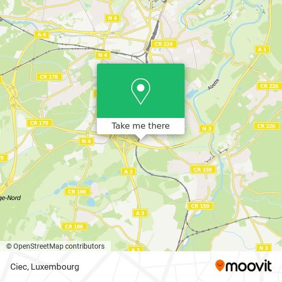 Ciec map