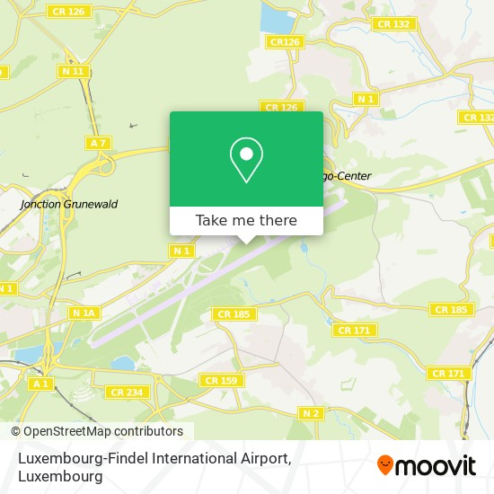 Luxembourg-Findel International Airport map
