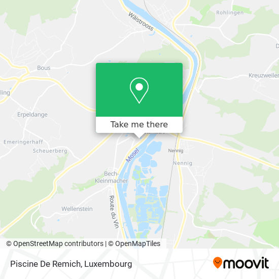 Piscine De Remich map