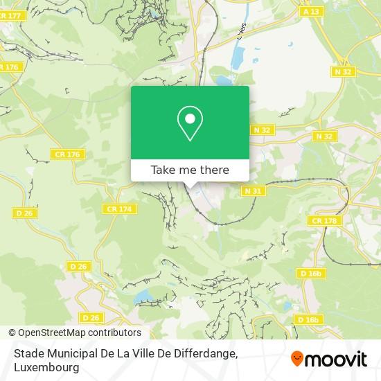 Stade Municipal De La Ville De Differdange map