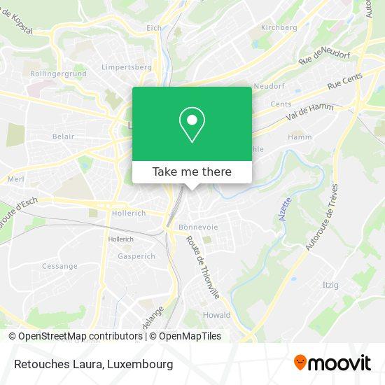 Retouches Laura map