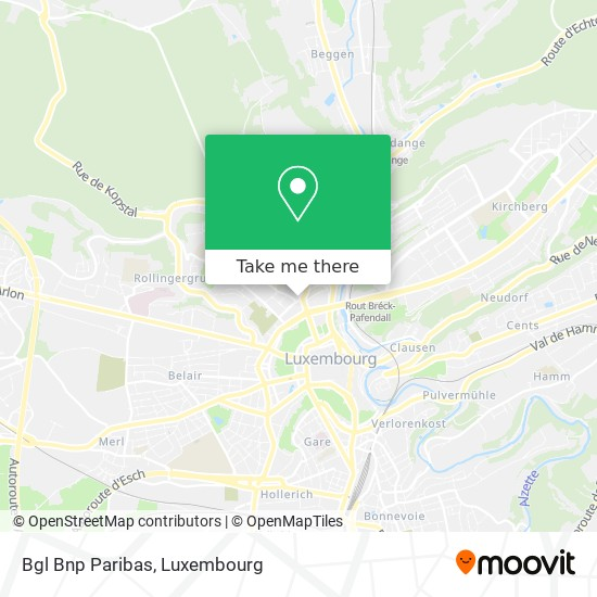 Bgl Bnp Paribas map