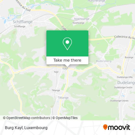 Burg Kayl map