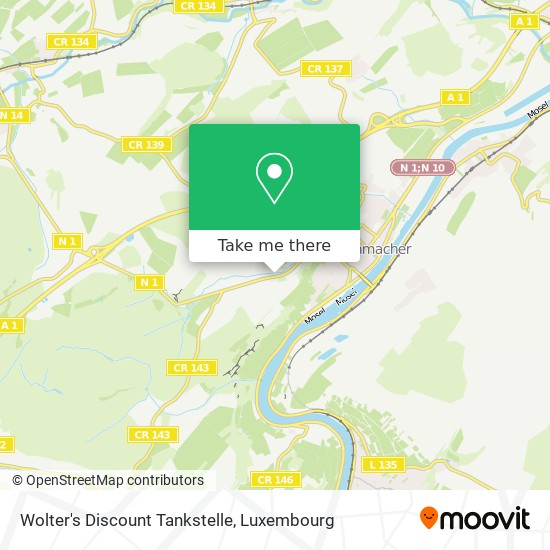 Wolter's Discount Tankstelle map