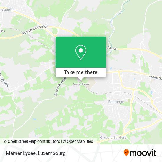Mamer Lycée map