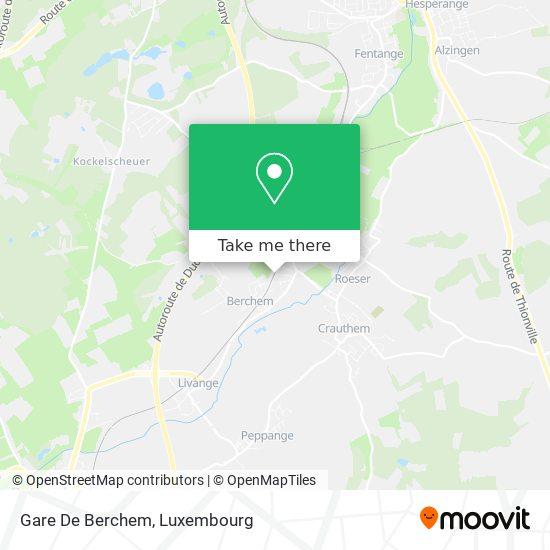 Gare De Berchem map