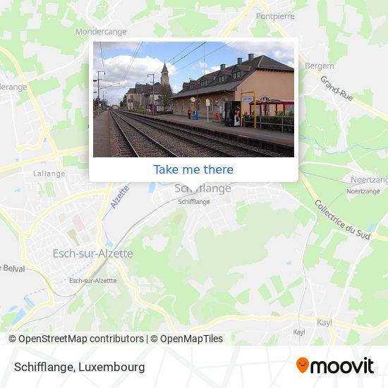 Schifflange map
