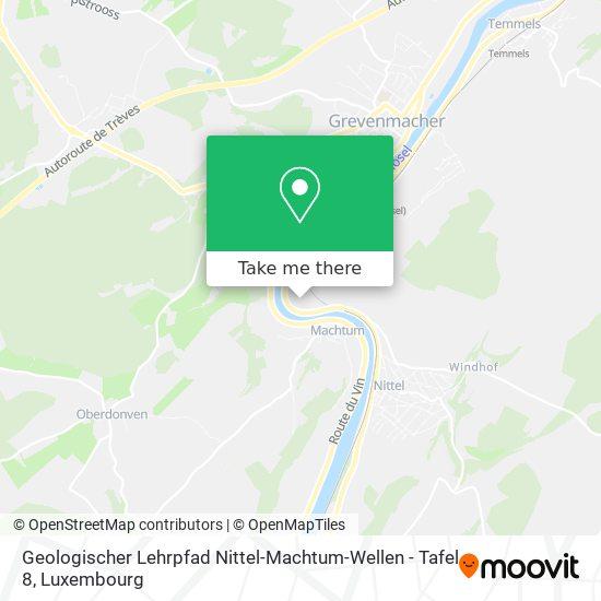 Geologischer Lehrpfad Nittel-Machtum-Wellen - Tafel 8 map