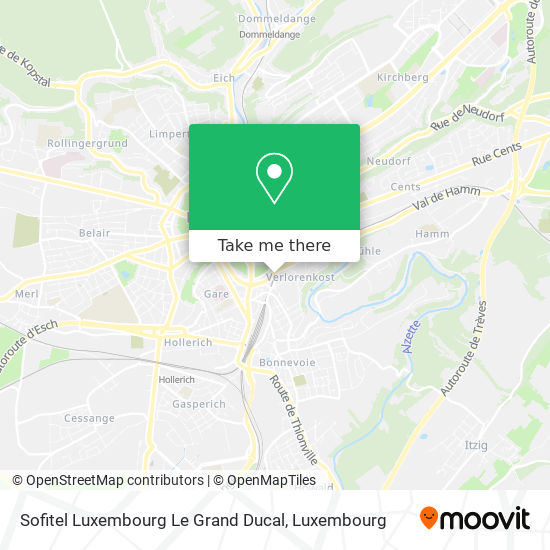 Sofitel Luxembourg Le Grand Ducal map