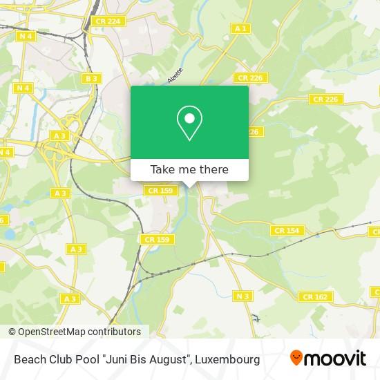 """Beach Club Pool """"Juni Bis August"""" map"""