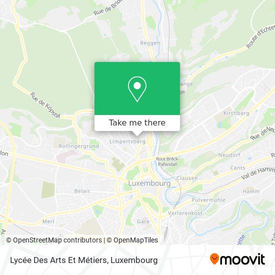 Lycée Technique Des Arts Et Métiers map