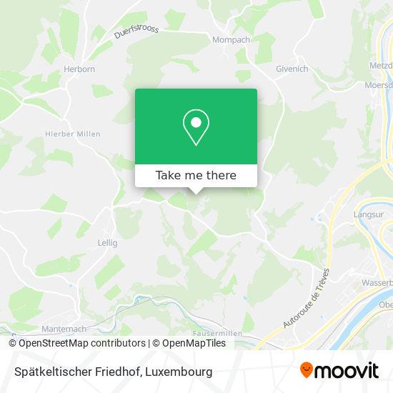 Spätkeltischer Friedhof map
