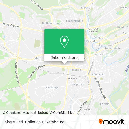 Skate Park Hollerich map