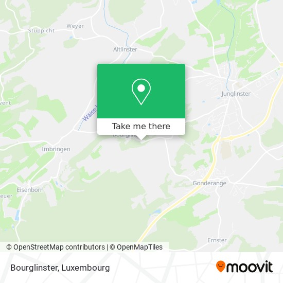 Bourglinster map