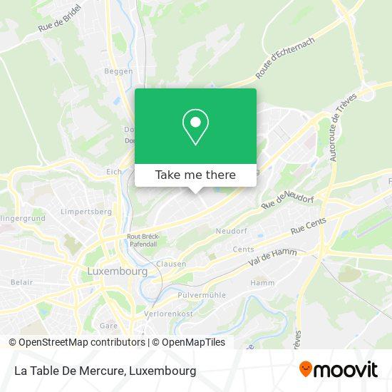La Table De Mercure map