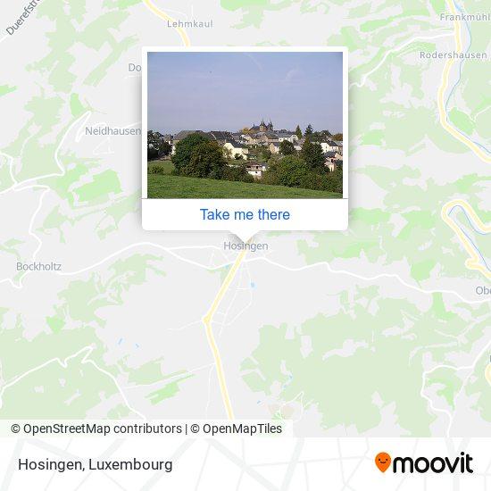 Hosingen map