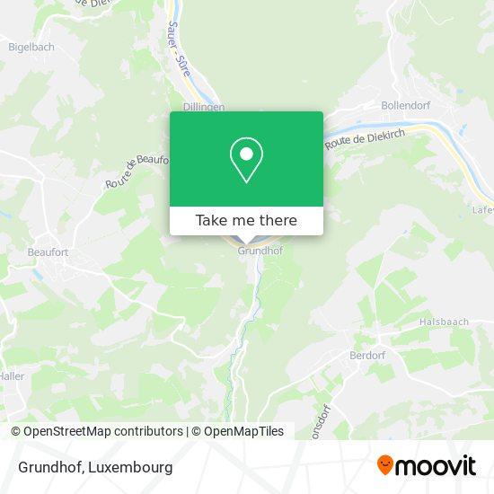 Grundhof map