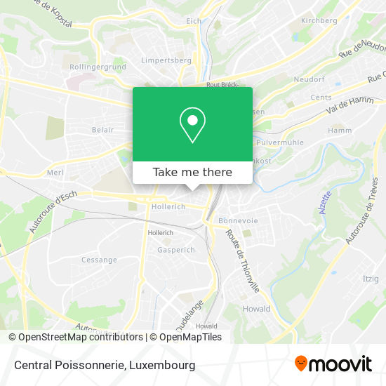 Central Poissonnerie map