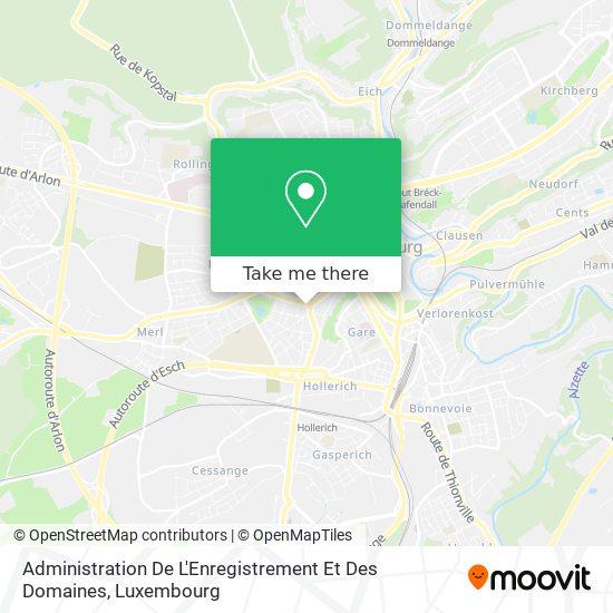 Administration De L'Enregistrement Et Des Domaines map