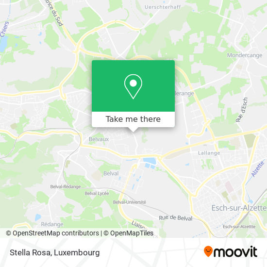 Stella Rosa map