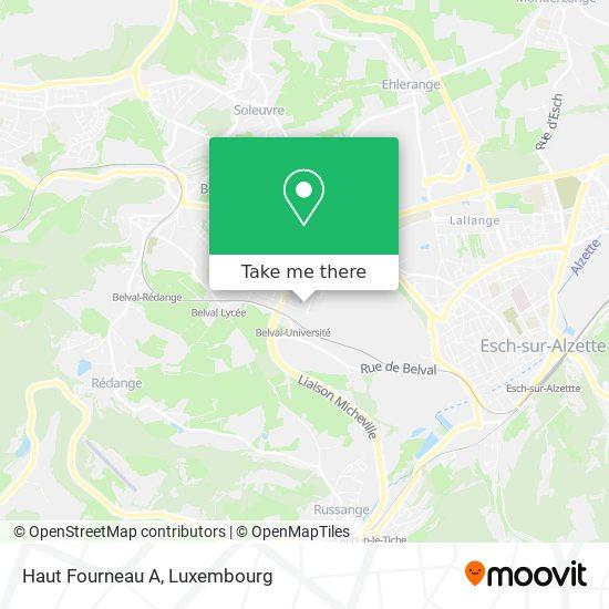 Haut Fourneau A map