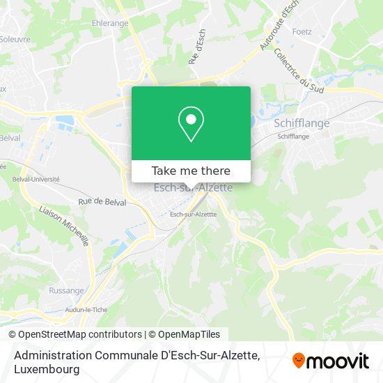Administration Communale D'Esch-Sur-Alzette map