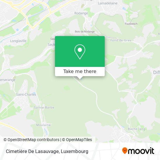 Cimetière De Lasauvage map