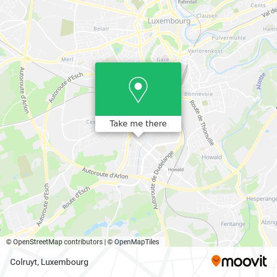 Colruyt map