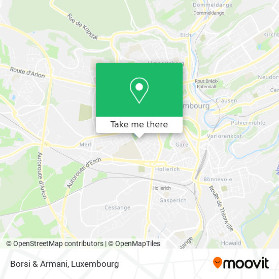 Borsi & Armani map