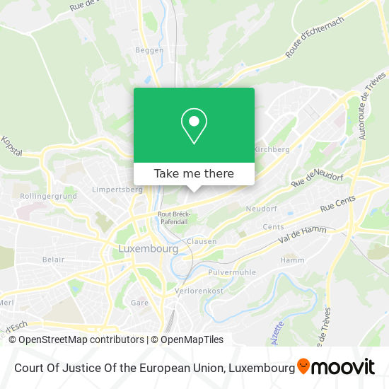 Court Of Justice Of The European Union map
