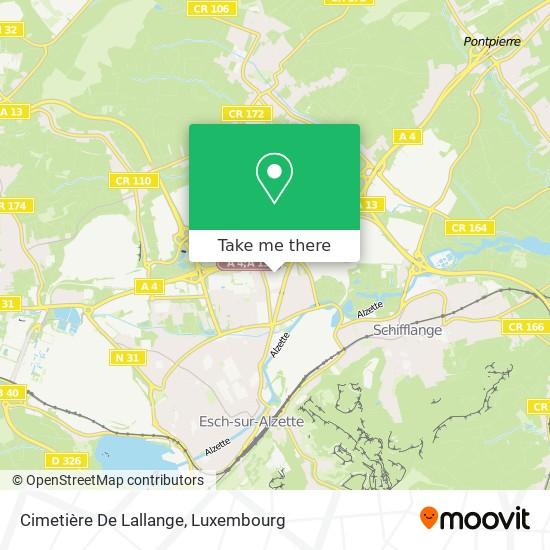 Cimetière De Lallange map