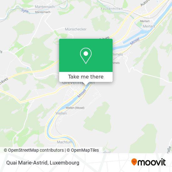 Quai Marie-Astrid map