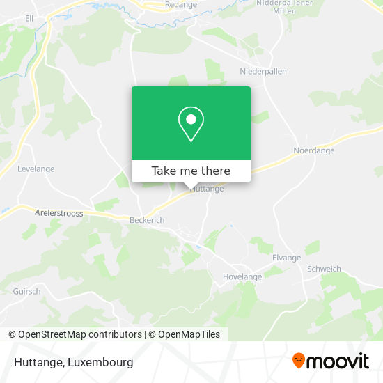 Huttange map