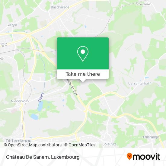 Château De Sanem map