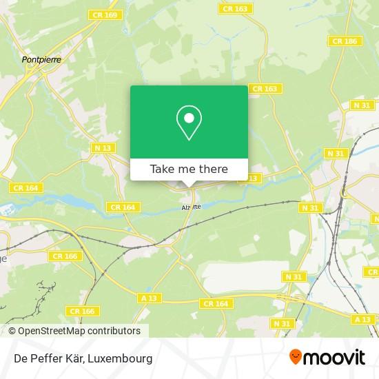 De Peffer Kär map