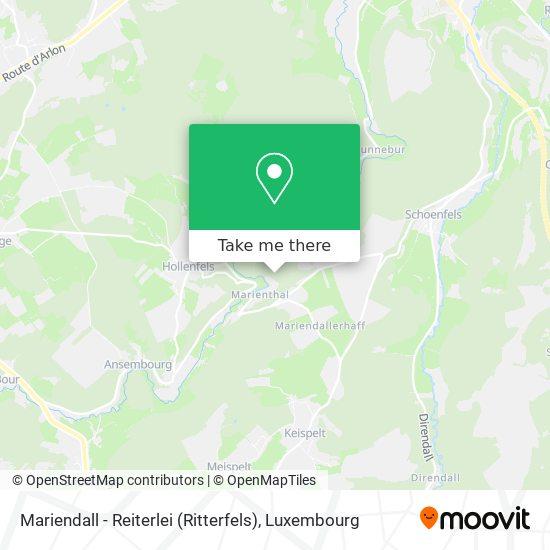 Mariendall - Reiterlei (Ritterfels) map