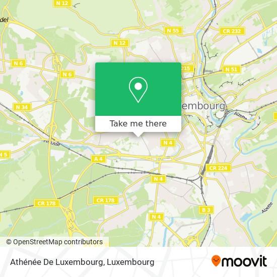 Athénée De Luxembourg map