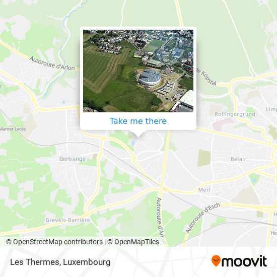 Les Thermes map