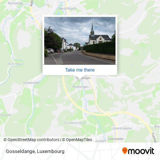Gosseldange map
