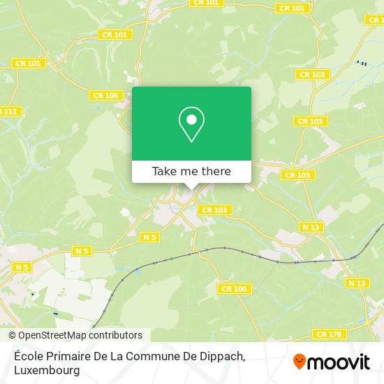 École Primaire De La Commune De Dippach map