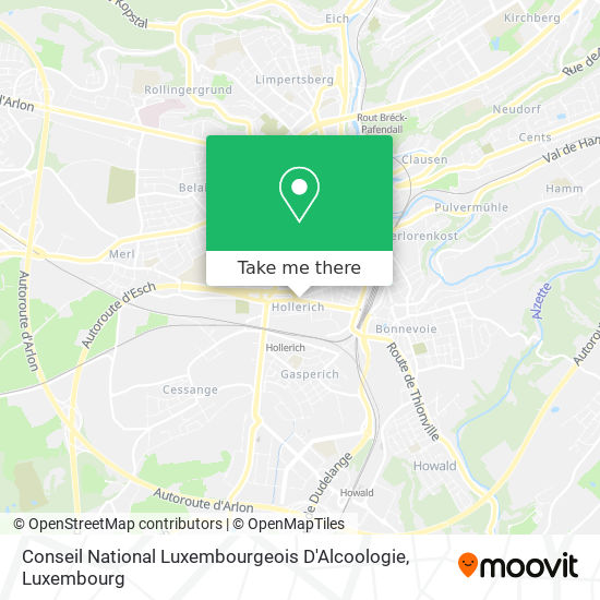 Conseil National Luxembourgeois D'Alcoologie map
