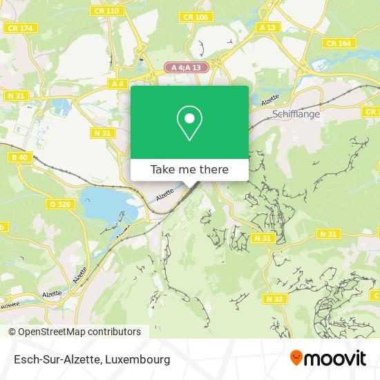 Esch-Sur-Alzette map