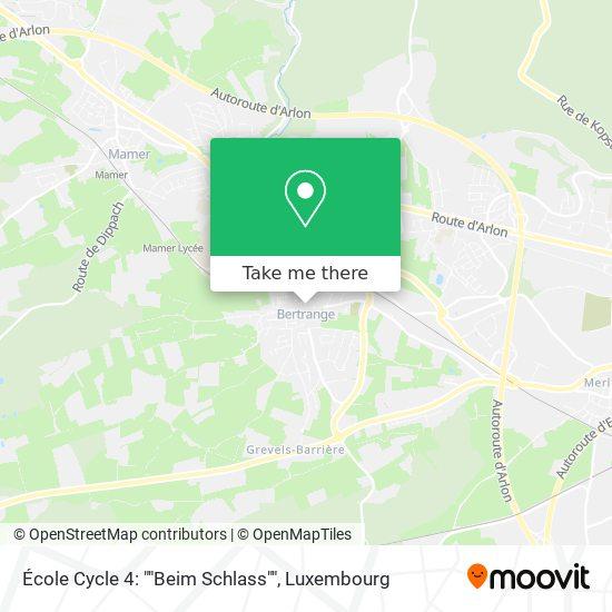 École Primaire Beim Schlass map